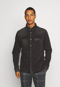 AllSaints - BASSETT SHIRT - Koszula - washed black