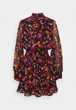 Gina Tricot - ALEXA TURTLNECK DRESS EXCLUSIVE - Freizeitkleid - black/rose