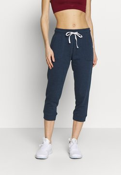 Cotton On Body - CROPPED GYM TRACKPANT - Pantalón 3/4 de deporte - dark blue
