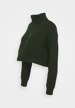 Pieces Maternity - PCMSUMMER CROPPED  ROLL NECK - Jersey de punto - duffel bag