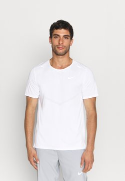 Nike Performance - RISE - T-shirt imprimé - white/silver