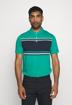 Nike Golf - DRY PLAYER STRIPE - Funktionsshirt - neptune green/obsidian/sail/flt silver