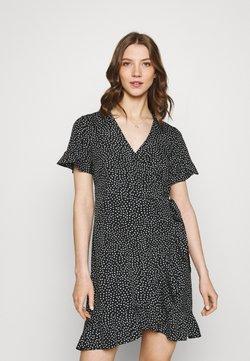 Vero Moda - VMHENNA WRAP FRILL DRESS - Freizeitkleid - black