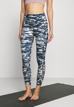 Sweaty Betty - SUPER SCULPT YOGA LEGGINGS - Medias - stellar blue water