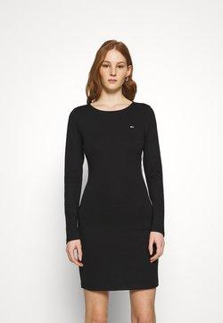 Tommy Jeans - TAPE DETAIL LONGSLEEVE DRESS - Vestido ligero - black