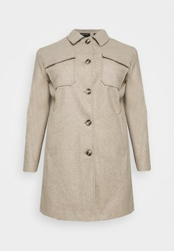 Vero Moda Curve - VMBONUSRAY JACKET - Classic coat - silver mink melange