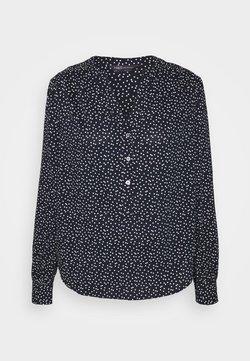 Marks & Spencer London - NOTCH NECK BLOUSE - Bluse - dark blue