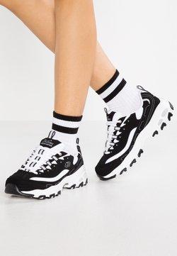 Skechers Wide Fit - WIDE FIT D'LITES - Sneakers laag - black