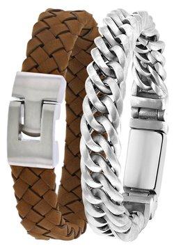 Lucardi - 2 PACK - Armband - bruin