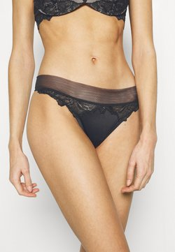 Calvin Klein Underwear - OVERSIZETRIM THONG - Stringi - black