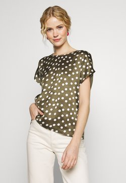 Kaffe - KARENA BLOUSE - Bluse - grape leaf/chalk dot