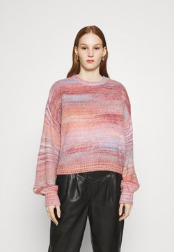 Cotton On - BIG SKY CREW SWEATER - Strickpullover - pink spacedye