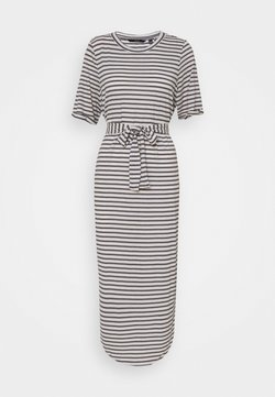 Vero Moda Tall - VMALONA CALF DRESS - Jersey dress - navy blazer/white
