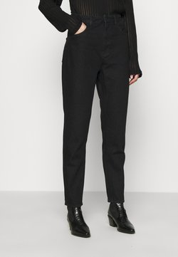 NU-IN - HIGH RISE TAPERED MOM JEANS - Relaxed fit jeans - black