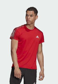 adidas Performance - OWN THE RUN T-SHIRT - Camiseta estampada - red