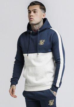 SIKSILK - CUT & SEW TAPED HOODIE - Bluza z kapturem - navy/snow marl