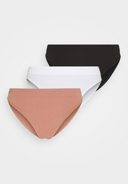 aerie - SEAMLESS HIGH CUT SOLID 3 PACK - Alushousut - true black/white/meadow bound