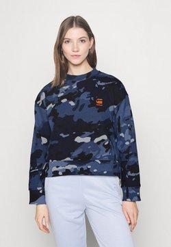G-Star - LOOSE FIT CAMO CREWNECK - Sweatshirt - faze blue multi