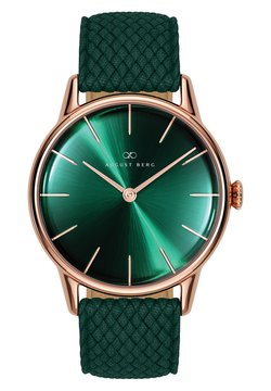 August Berg - UHR SERENITY GREENHILL DARK GREEN PERLON 32MM - Montre - sunray green