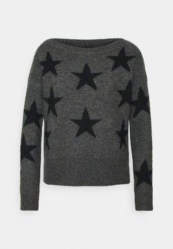 ONLY - ONLNEW AURELIE  - Jersey de punto - dark grey melange/black