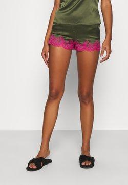 Agent Provocateur - AMELEA SHORT - Pyjama bottoms - khaki/bright pink