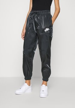 Nike Sportswear - AIR PANT SHEEN - Jogginghose - black/white