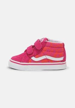Vans - SK8-MID REISSUE - Korkeavartiset tennarit - neon animal leopard/pink