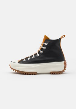 Converse - RUN STAR HIKE - Baskets montantes - black/saffron yellow/egret