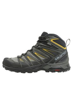 Salomon - X ULTRA 3 MID GTX - Hikingskor - castor gray/black/green sulphur