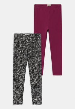 OVS - 2 PACK - Legging - red plum