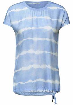 Cecil - IM BATIK LOOK - T-Shirt print - blau