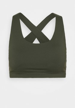 Cotton On Body - WORKOUT CUT OUT CROP - Sujetadores deportivos con sujeción ligera - khaki