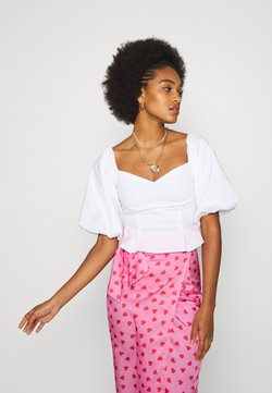 Never Fully Dressed - PINK HEARTS JASPRE SKIRT - Kokerrok - pink