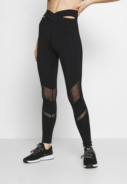 Wolf & Whistle - EXCLUSIVE PANEL LEGGINGS - Tights - black