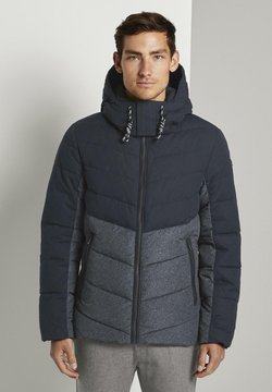 TOM TAILOR - Winterjacke - blue melange structure