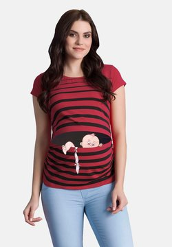 M.M.C. - BABY FLUCHT - T-Shirt print - weinrot