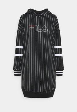 Fila - JAMI LONG SPORTY HOODY - Robe d'été - black/bright white