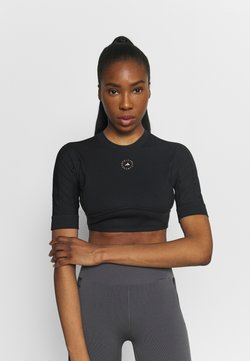 adidas by Stella McCartney - CROP - T-Shirt basic - black