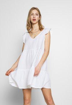 Superdry - TINSLEY TIERED DRESS - Freizeitkleid - chalk white