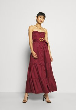 Who What Wear - STRAPLESS BUSTIER DRESS - Ballkleid - rosewood