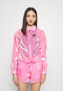 Nike Sportswear - AIR SHEEN - Kevyt takki - pink glow/black