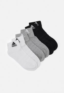 adidas Performance - CUSH ANK UNISEX 6 PACK - Träningssockor - medium grey heather/white