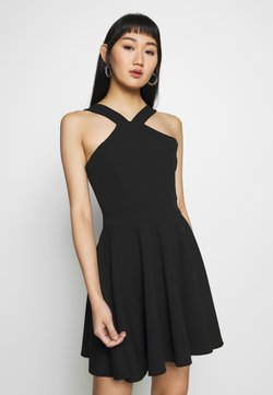 WAL G. - CRISS CROSS NECK SKATER DRESS - Cocktail dress / Party dress - black