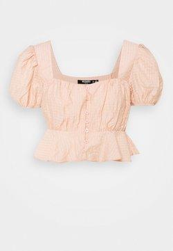 Missguided Petite - FRILL HEM CUFF SLEEVE CROP - Bluse - nude rose