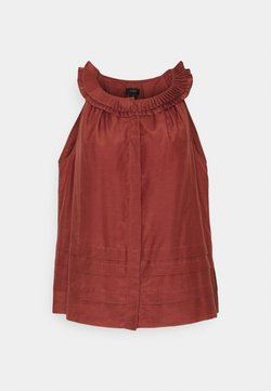 J.CREW - MARAVILLA PLEATED COLLAR  - Camicetta - rock red