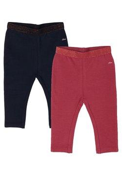 s.Oliver - 2 PACK - Legging - dark blue/pink