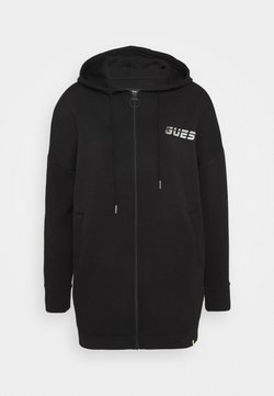 Guess - LONG JACKET ZIP - veste en sweat zippée - jet black