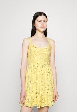 Hollister Co. - BARE SHORT DRESS - Freizeitkleid - yellow