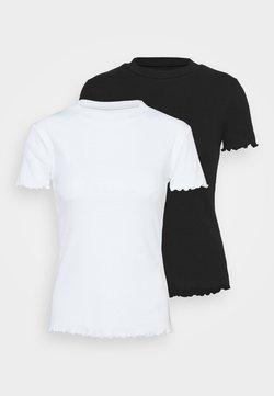 Even&Odd - 2 PACK - T-Shirt basic - black/white