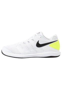 Nike Performance - AIR ZOOM VAPOR X - Buty tenisowe uniwersalne - white/black/volt